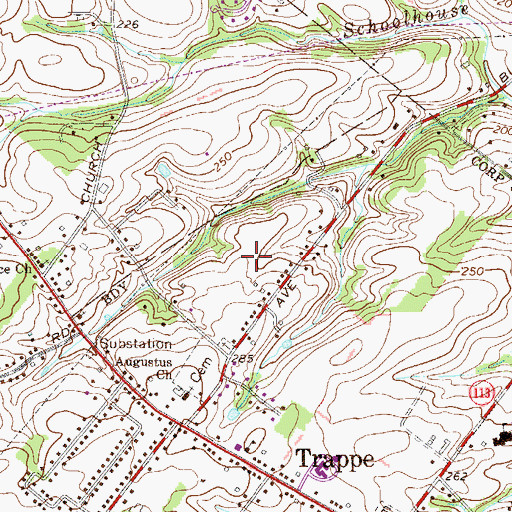 Topographic Map of Heather View, PA