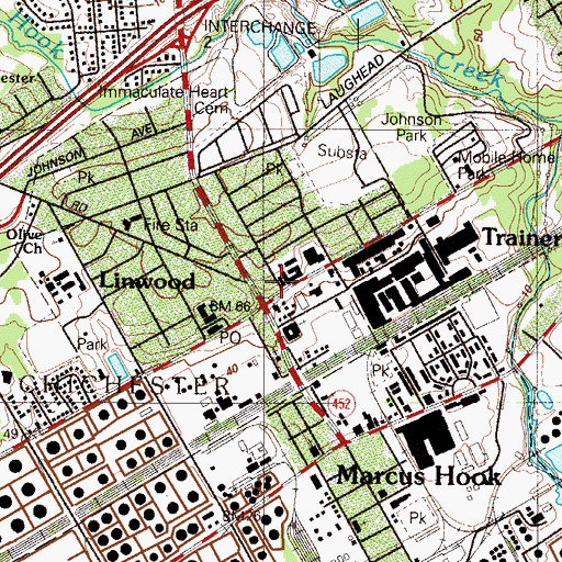 Topographic Map of Holy Saviour Church, PA