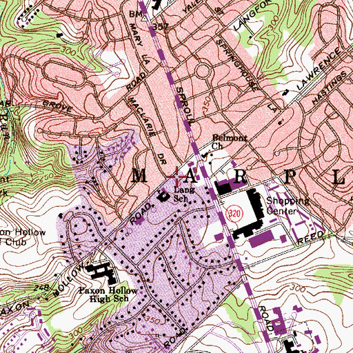 Topographic Map of Congregation Beth-el Suburban Ner Tamid, PA