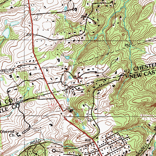 Topographic Map of Cossart Creek, PA