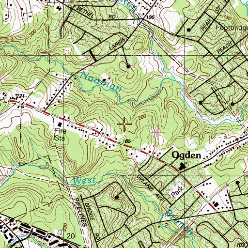 Topographic Map of Creekside Village at Naamans, PA