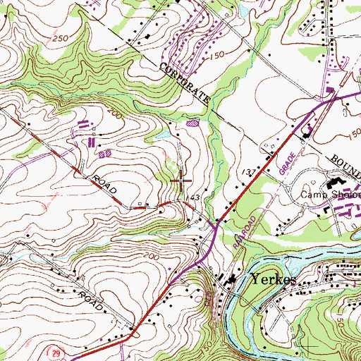 Topographic Map of Donny Brook Estates, PA