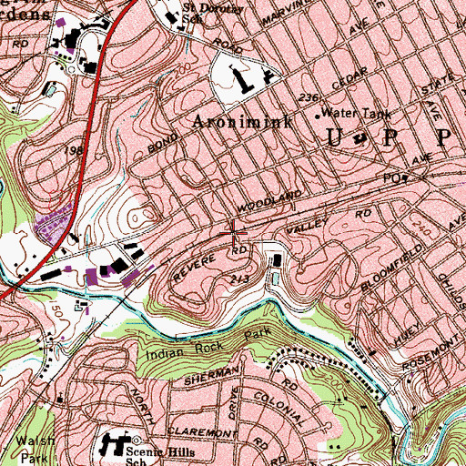 Topographic Map of Drexelbrook Station, PA