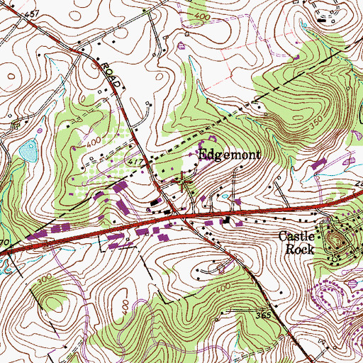 Topographic Map of Eagleview, PA