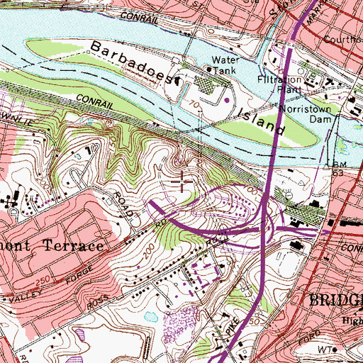 Topographic Map of Eastburn Terrace, PA