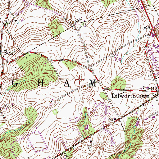 Topographic Map of Fieldpoint, PA