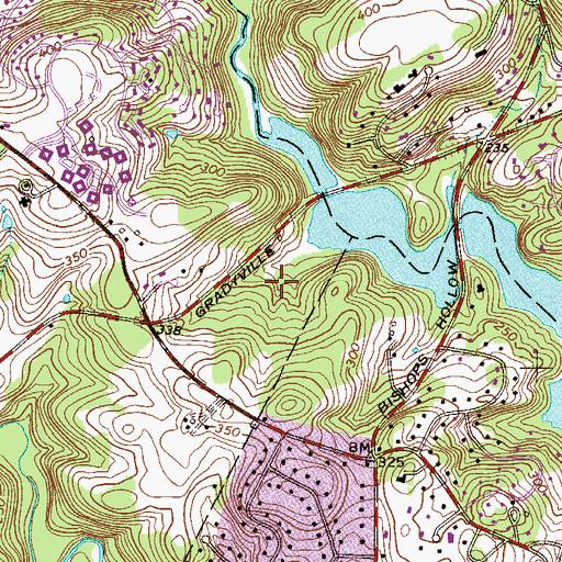 Topographic Map of Geist Point, PA