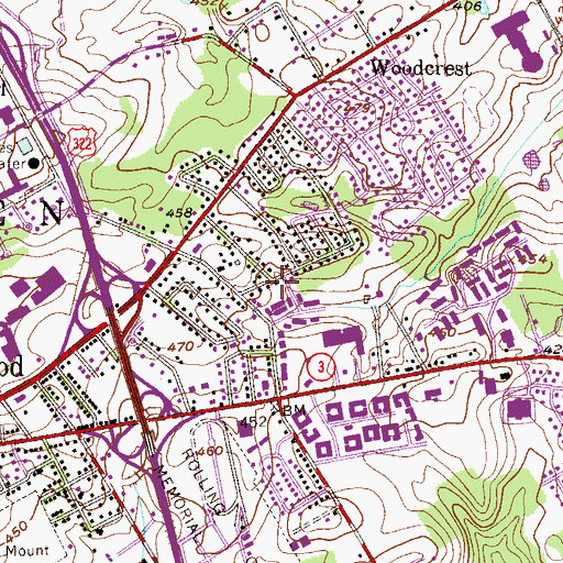 Topographic Map of Goshen West, PA