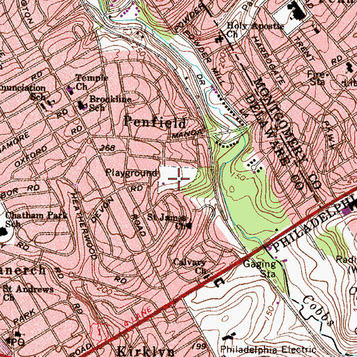 Topographic Map of Grange Field, PA