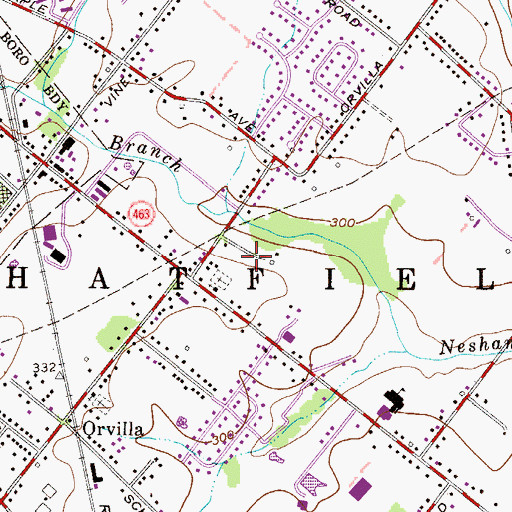 Topographic Map of Lexington Leas, PA