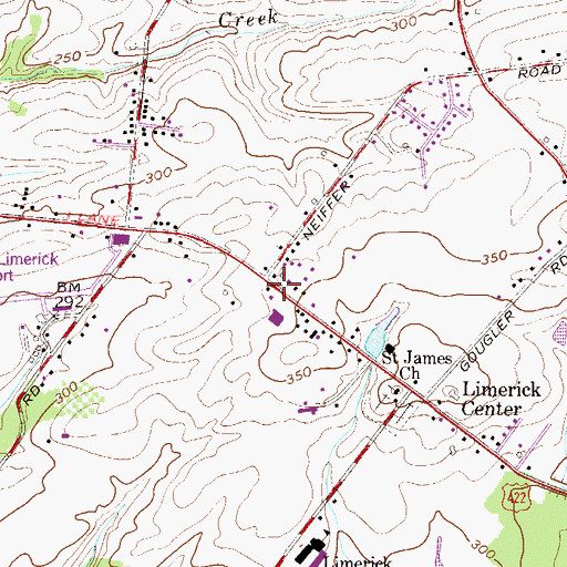 Topographic Map of Limerick Township Building, PA