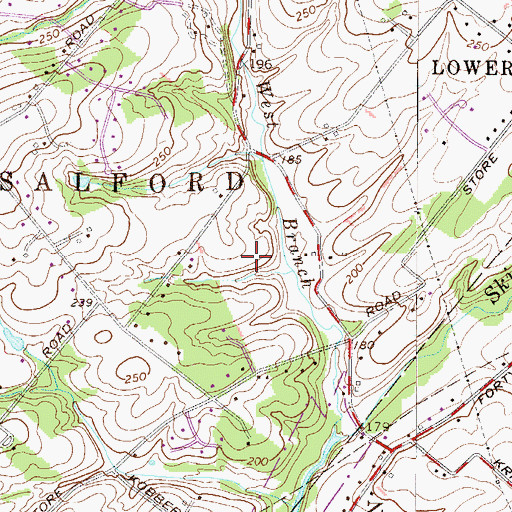 Topographic Map of Jacob Reiff Park, PA