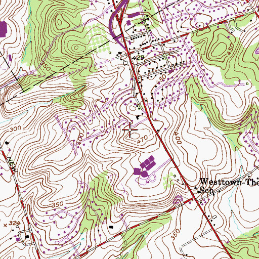Topographic Map of Sarah W Starkweather Elementary School, PA