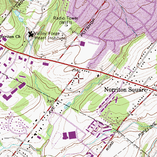 Topographic Map of Sheffield Village, PA