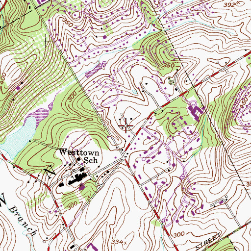 Topographic Map of Pennwood South, PA