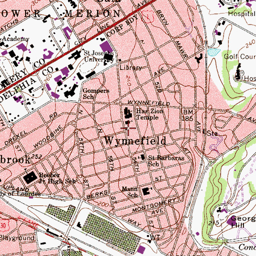 Topographic Map of Philadelphia Harambee Institute of Science and Technology, PA