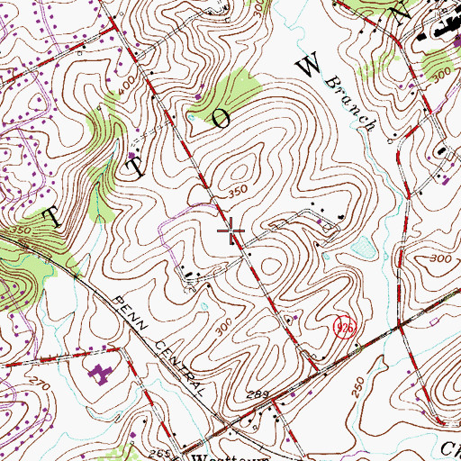 Topographic Map of Plumly, PA