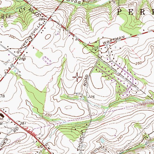 Topographic Map of Providence Knoll, PA