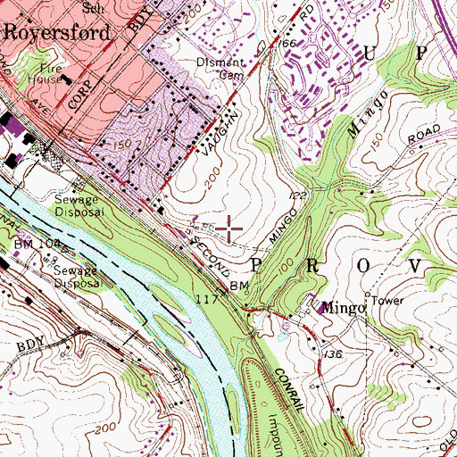 Topographic Map of Renninger Tract, PA
