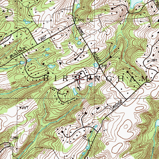 Topographic Map of Ringfield, PA