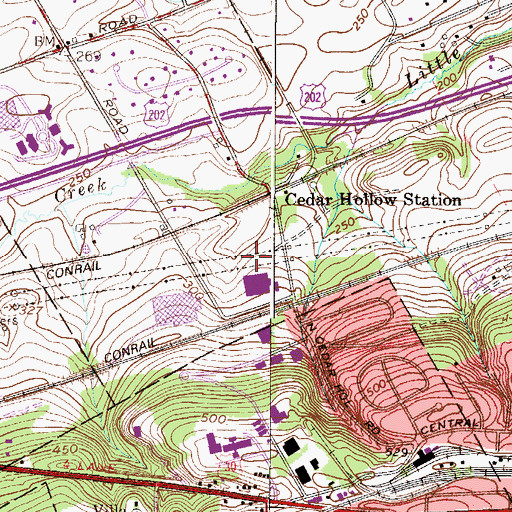 Topographic Map of Ronnie Park, PA