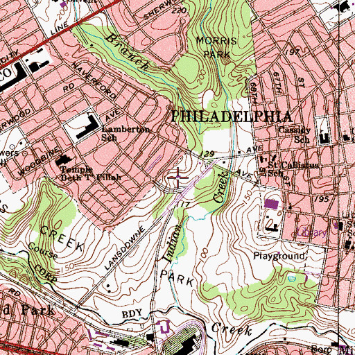 Topographic Map of Rose Community Center, PA