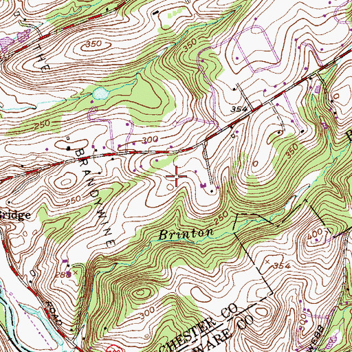 Topographic Map of Roundelay, PA