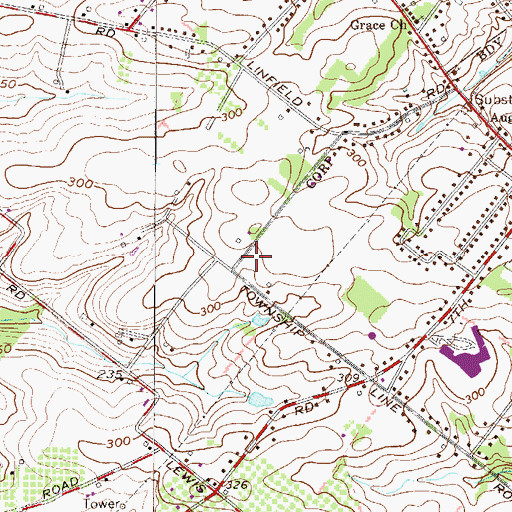 Topographic Map of Trappe Meadows, PA