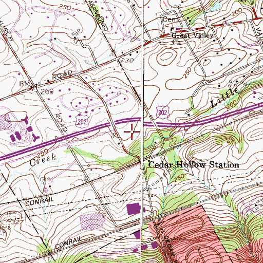 Topographic Map of Tredyffrin Township Park, PA