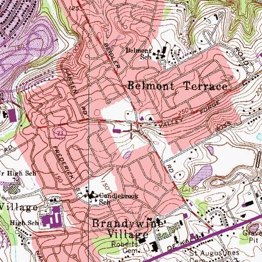 Topographic Map of Upper Merion Township Police Station, PA