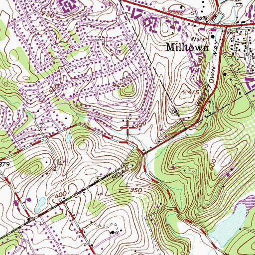 Topographic Map of Westtown Knoll, PA