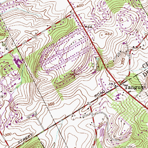 Topographic Map of Westover Farms, PA