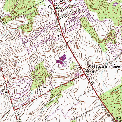 Topographic Map of Stetson Middle School, PA
