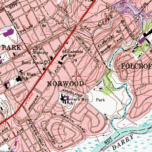 Topographic Map of Summits Edge, PA