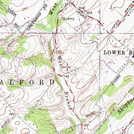 Topographic Map of The Estates at Fawn Ridge, PA