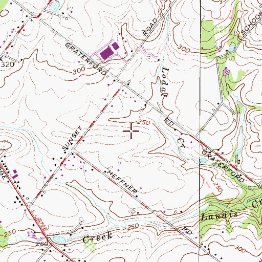 Topographic Map of Winnie Tract, PA