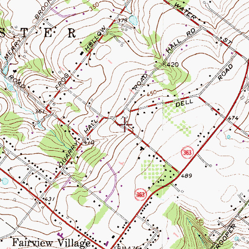 Topographic Map of Worcester Mennonite Church, PA