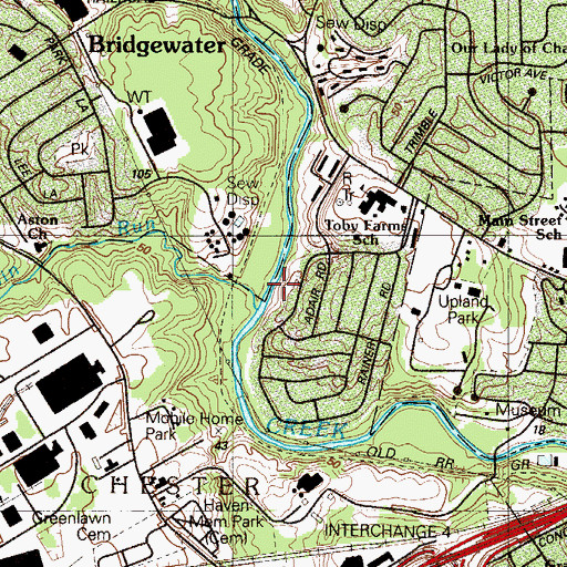Topographic Map of Worrilow Park, PA