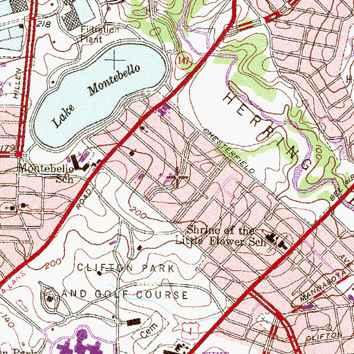 Topographic Map of Cathedral Church of Saint Matthew, MD