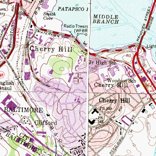 Topographic Map of Cherry Hill Seventh Day Adventist Church, MD