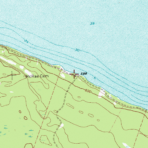 Topographic Map of Boisblanc Post Office (historical), MI