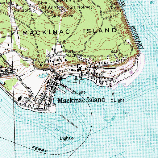 Topographic Map of Haldimand Bay, MI