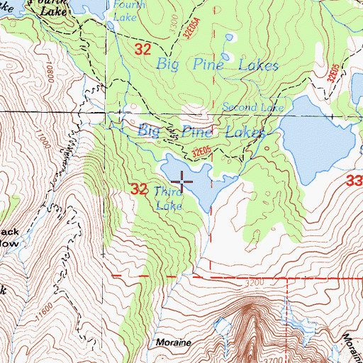 Topographic Map of Third Lake, CA