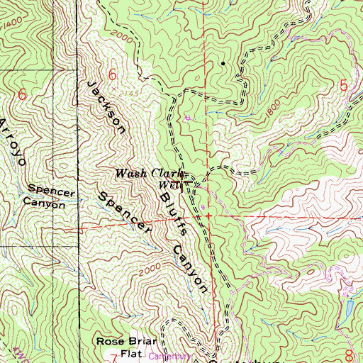 Topographic Map of Wash Clark Well, CA