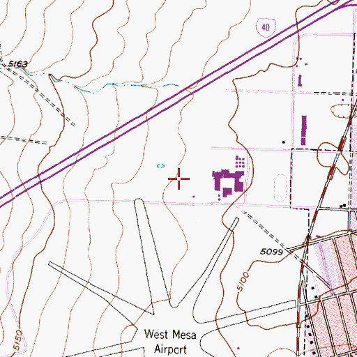 Topographic Map of West Mesa Park, NM