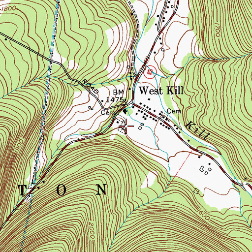 Topographic Map of Deyoe Cemetery, NY