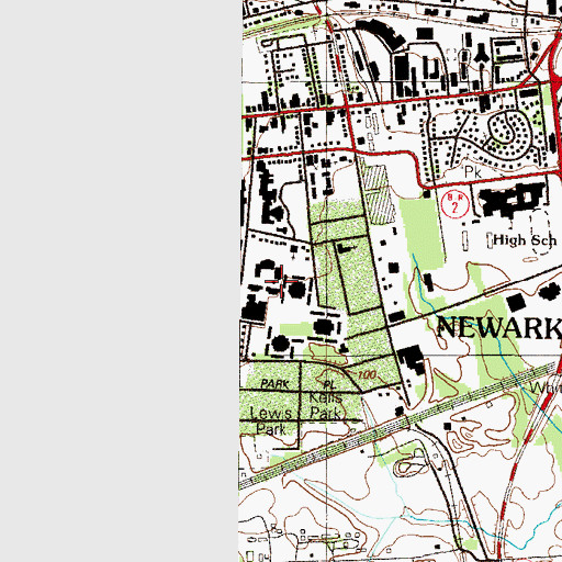 Topographic Map of Delaware Geological Survey Annex, DE