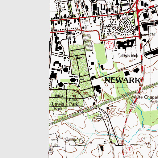 Topographic Map of University of Delaware Gilbert Complex Building C, DE