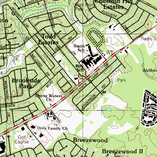 Topographic Map of Saint Nicholas Episcopal Church, DE