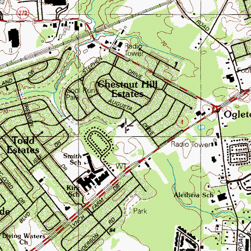 Topographic Map of Our Redeemer Lutheran Church, DE
